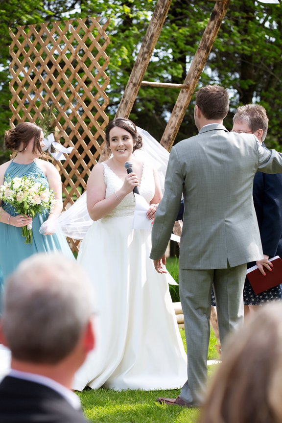 vows backyard wedding ceremony