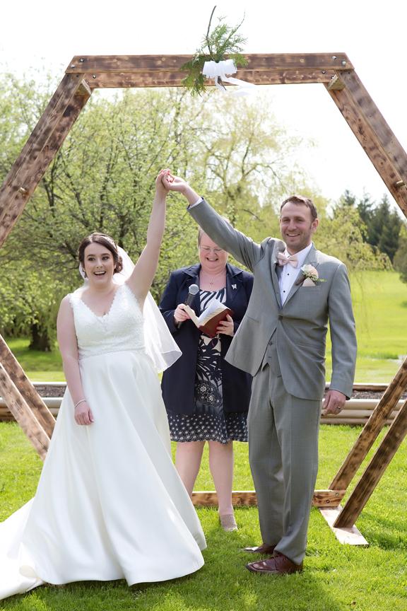 it's official backyard wedding ceremony