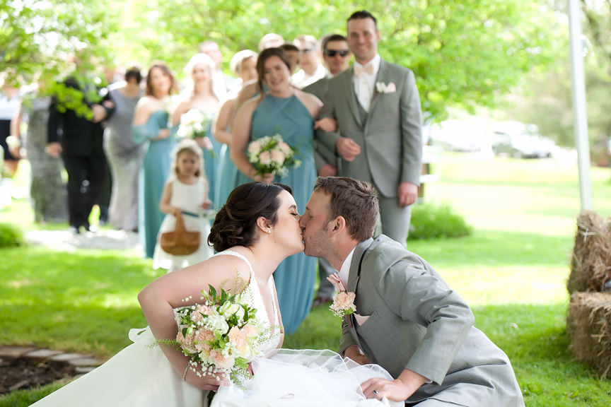 wedding ceremony backyard wedding