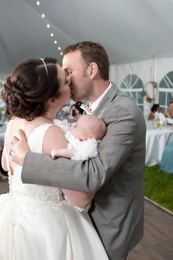 Backyard Wedding wedding reception first dance