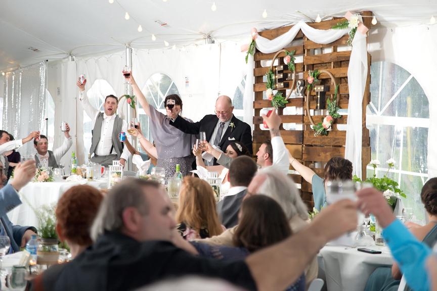 Backyard Wedding wedding reception speeches