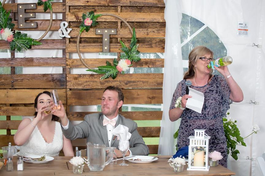 Backyard Wedding wedding reception drinks
