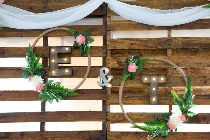 Backyard Wedding wedding reception decor