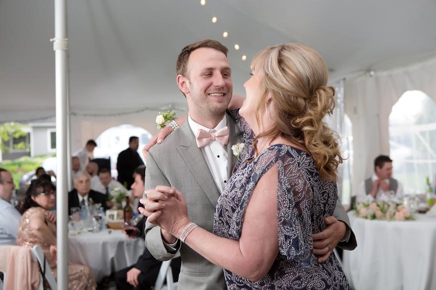 Backyard Wedding wedding reception mother son dance