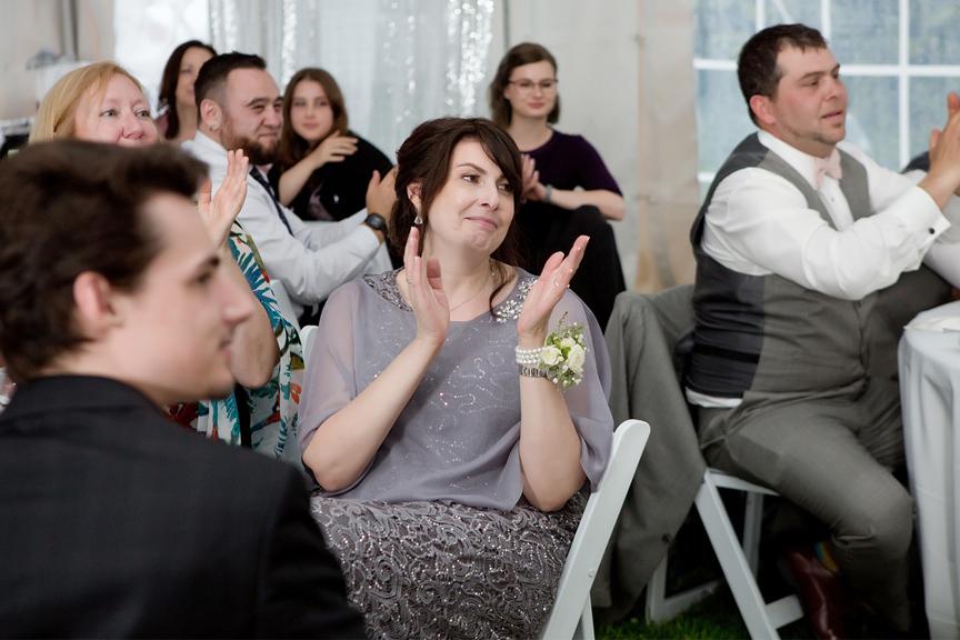 Backyard Wedding wedding reception guests