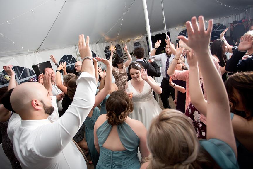 Backyard Wedding wedding reception party
