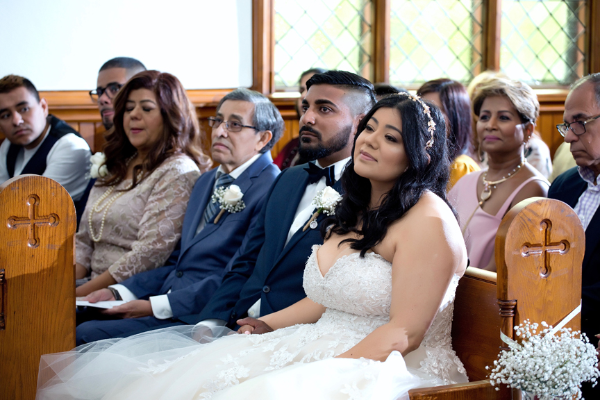 wedding ceremony at St Stephens Anglican Church
