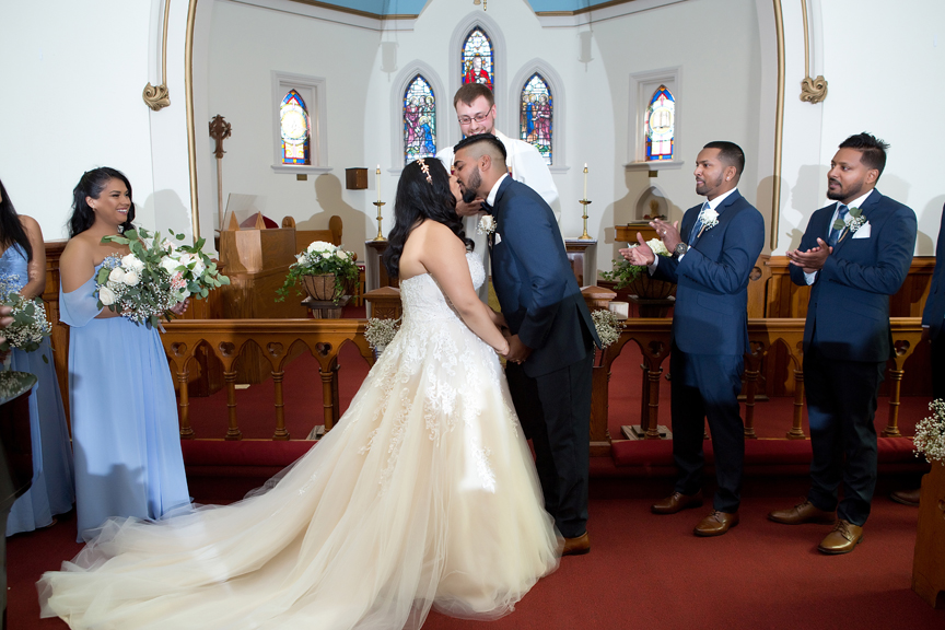 first kiss at St Stephens Anglican Church
