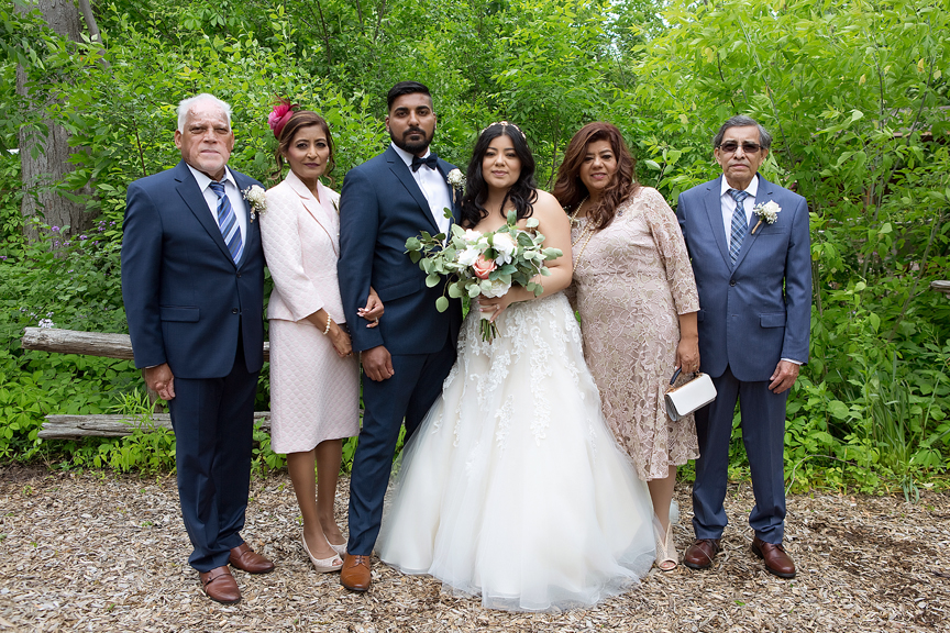 wedding couple parents at St Stephens Anglican Church