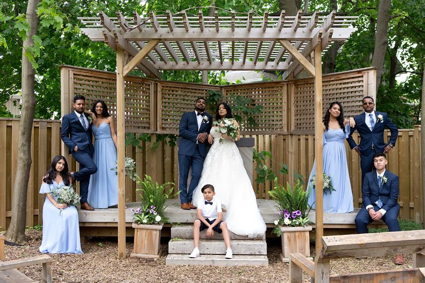 bridal party at St Stephens Anglican Church