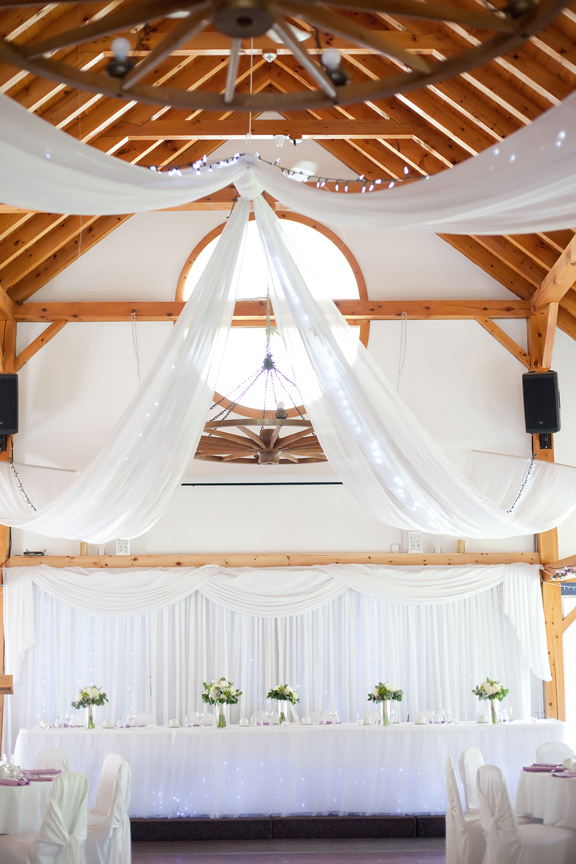 wedding reception decor at Trillium Trails
