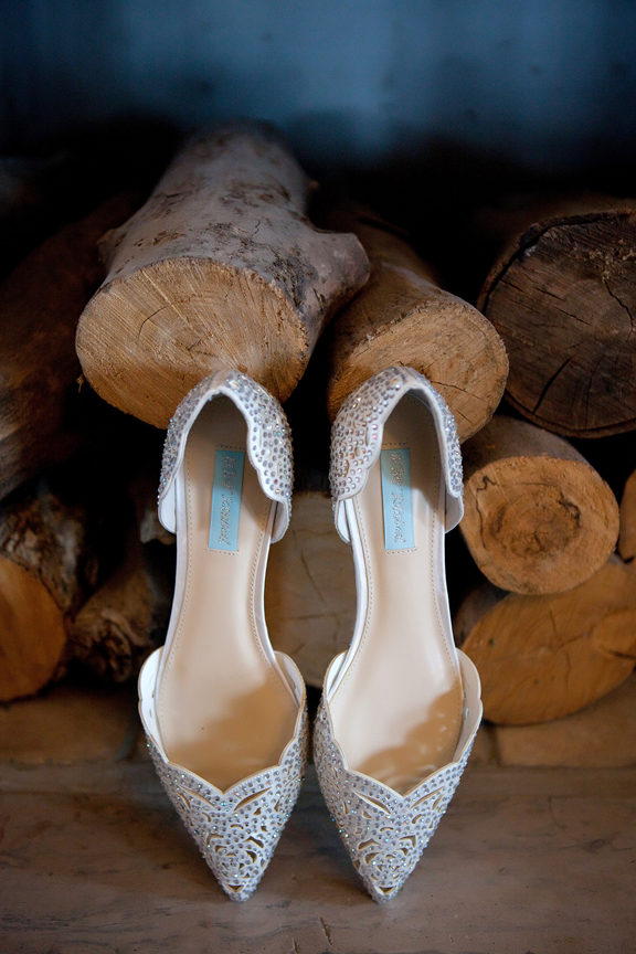 bride prep wedding shoes