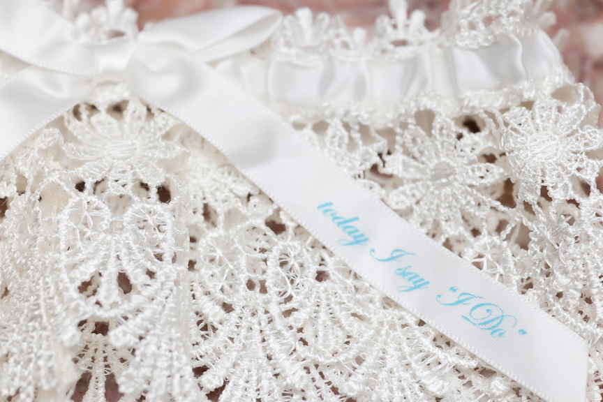 bride prep wedding garter