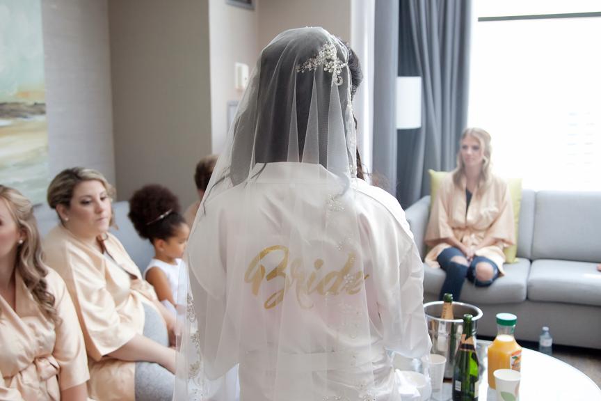 bride prep bridal robe