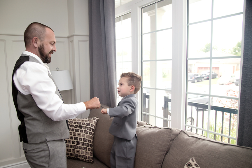 groom prep with son