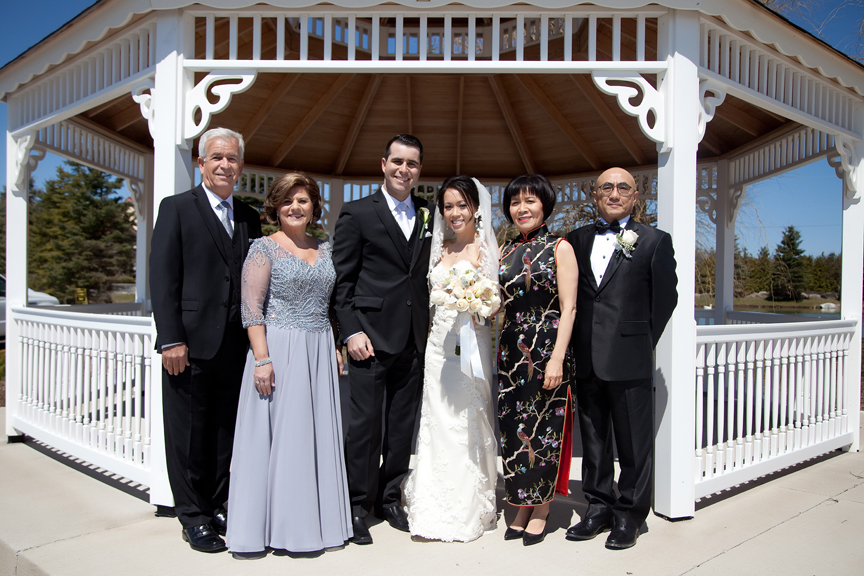 family wedding portrait at Galluci Winery