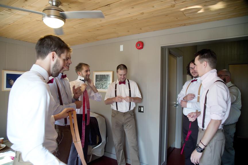 groom prep groomsmen getting dressed