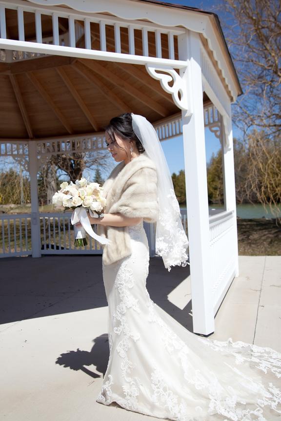 bride wedding portrait at Galluci Winery