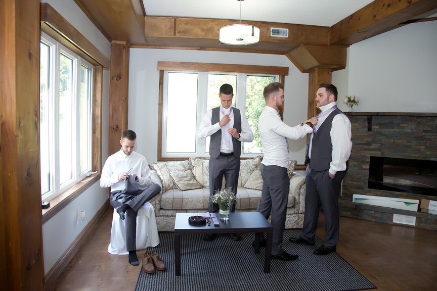 groom prep getting dressed