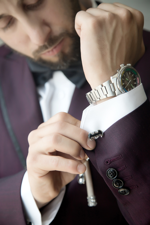 groom prep batman cufflink