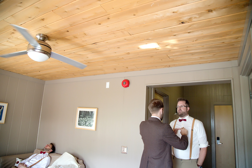 groom prep getting dressed