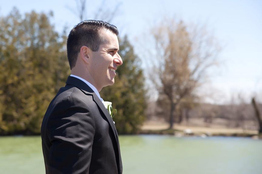 groom wedding portrait at Galluci Winery