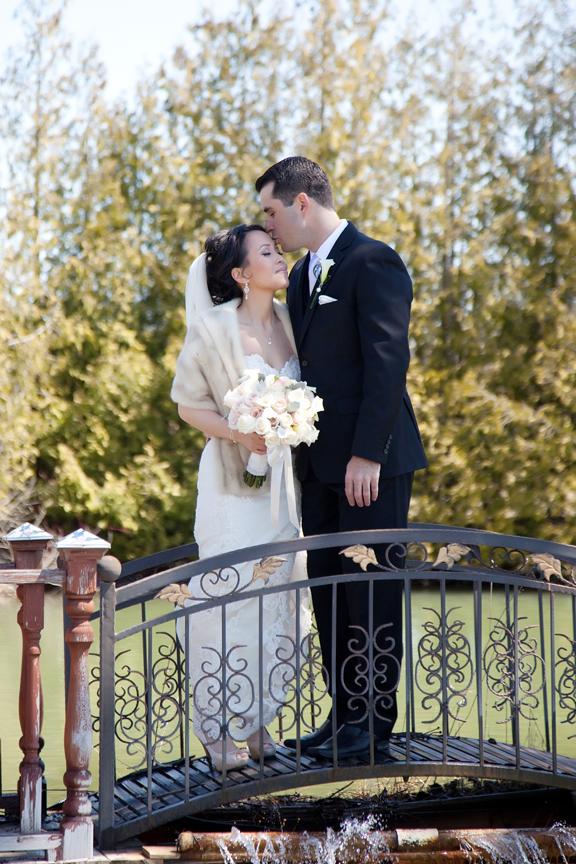 romantic wedding portrait at Galluci Winery