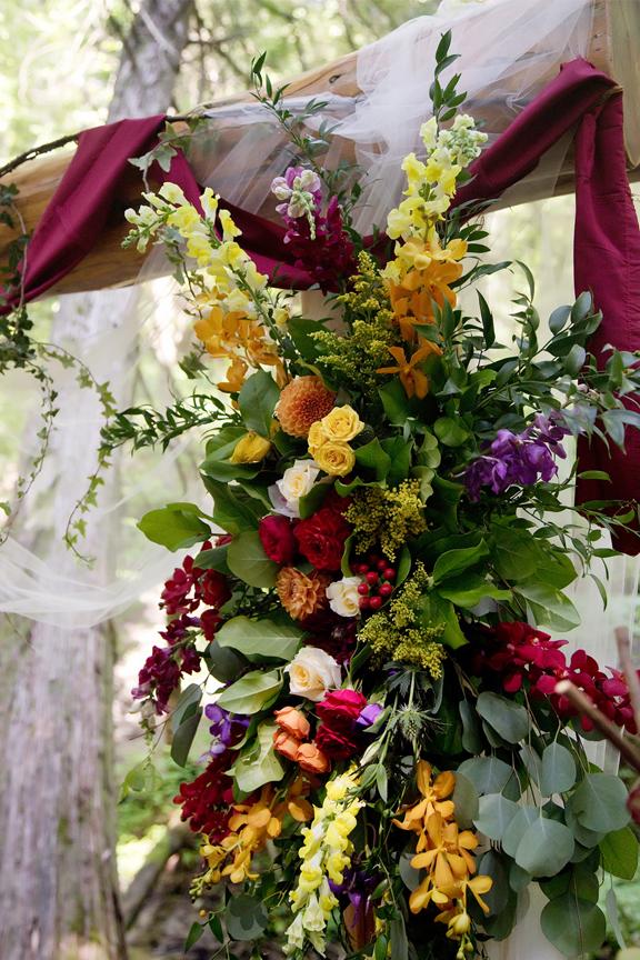 alter decor flowers