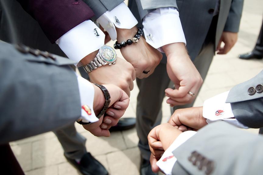 groom prep cufflinks