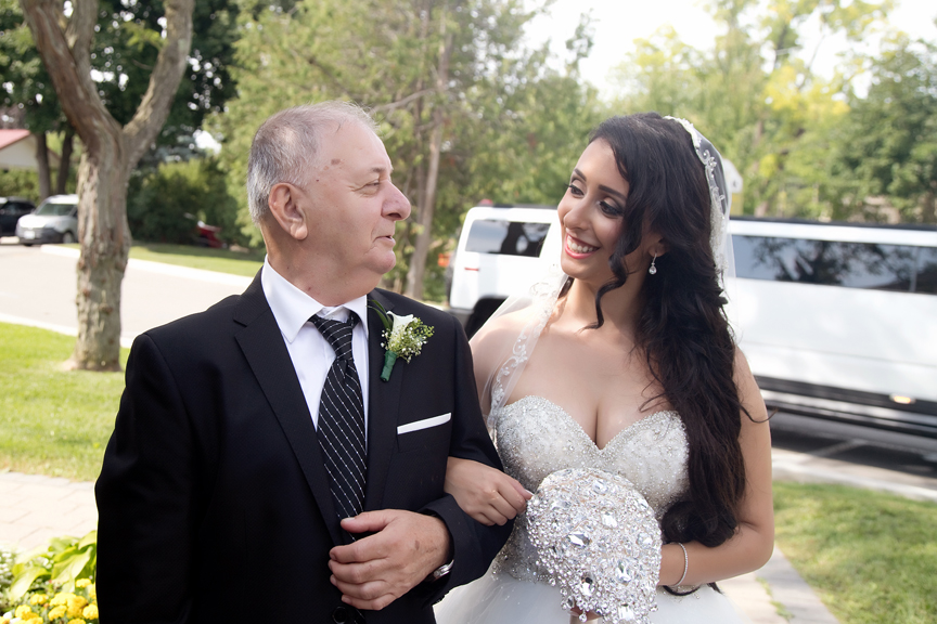 father and daughter wedding ceremony at All Saints Greek Orthodox Church