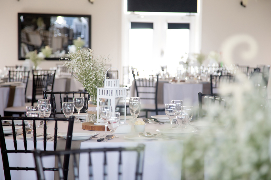 decor wedding reception at Tangle Creek Golf and Country Club