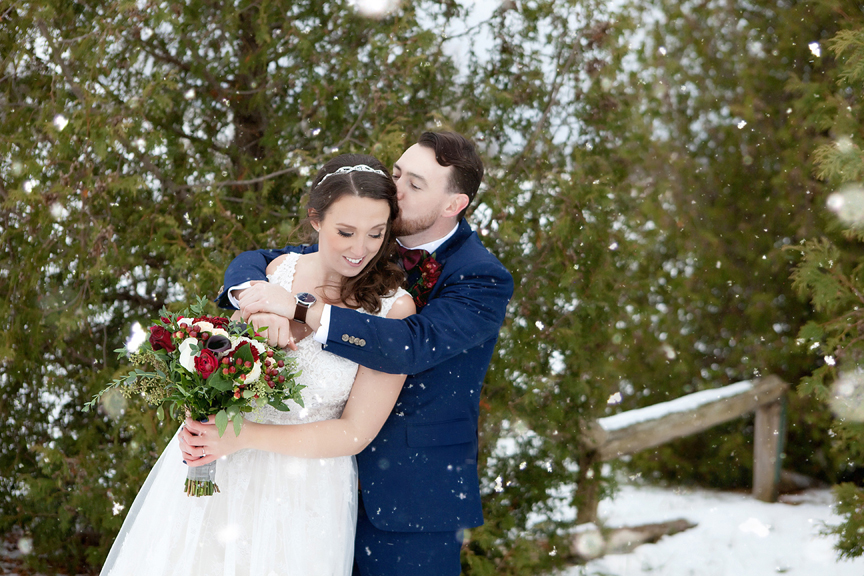 winter wedding at Waterstone Estate and Farms