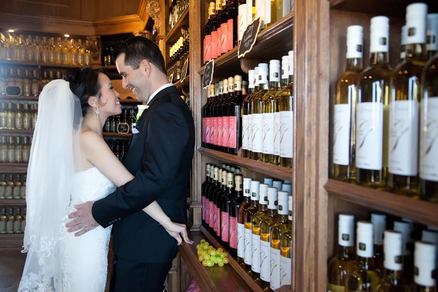 couple wedding portrait at Galluci Winery