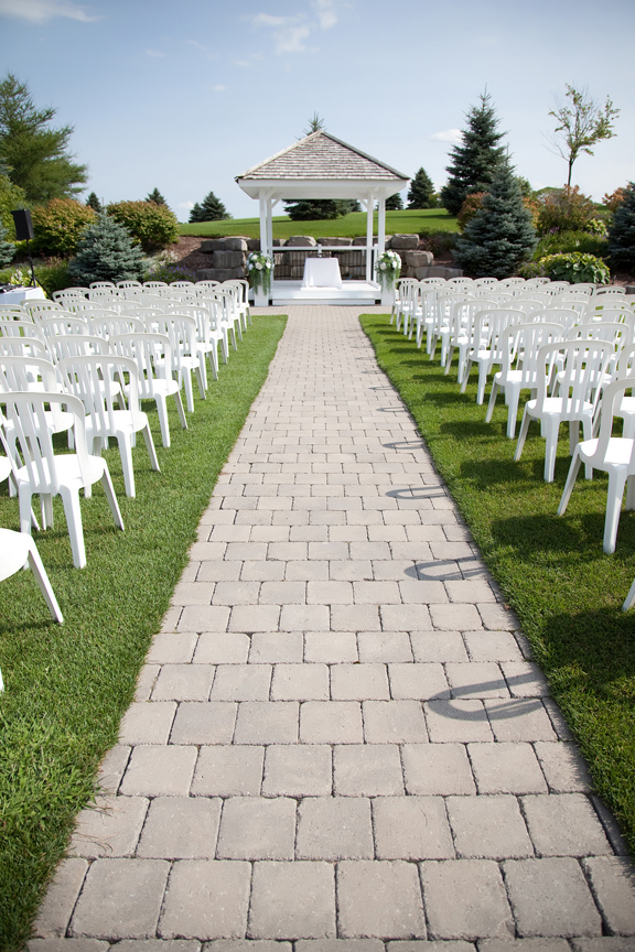 decor wedding ceremony at Tangle Creek Golf and Country Club