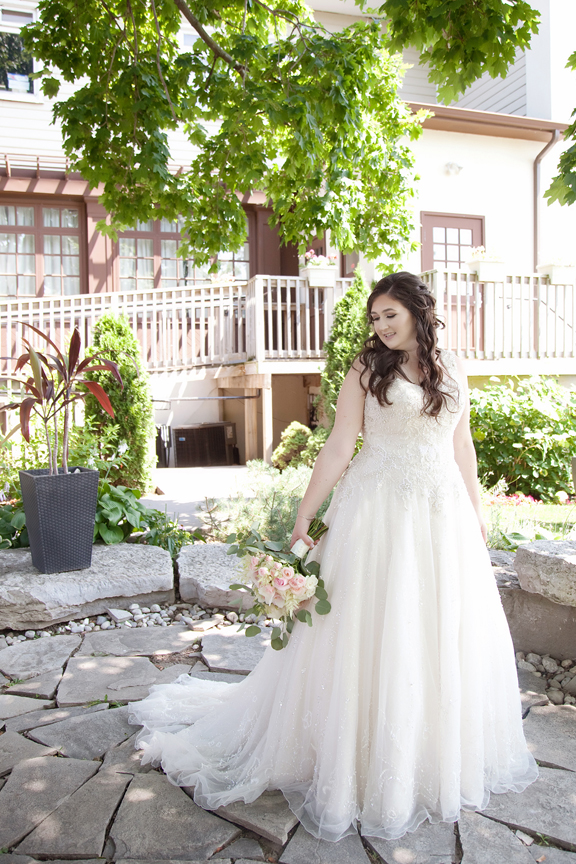 bride wedding portraits along waterfront