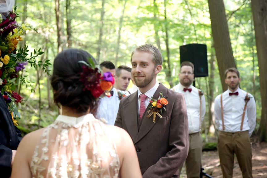 wedding ceremony at Ganaraska Forest Centre