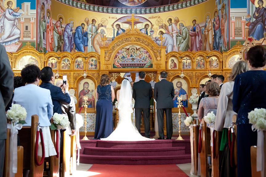 wedding ceremony at St Panteleimon Greek Orthodox Church