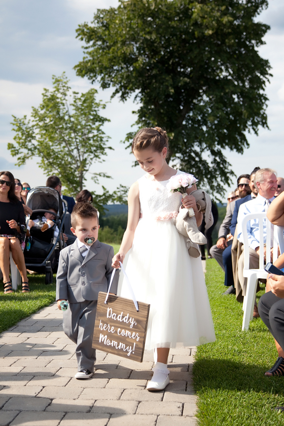 kids wedding ceremony at Tangle Creek Golf and Country Club