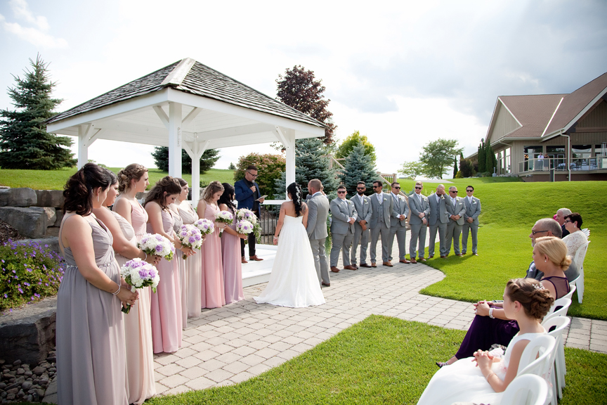 wedding ceremony at Tangle Creek Golf and Country Club