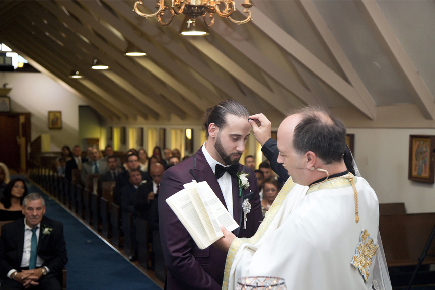 blessing wedding ceremony at All Saints Greek Orthodox Church