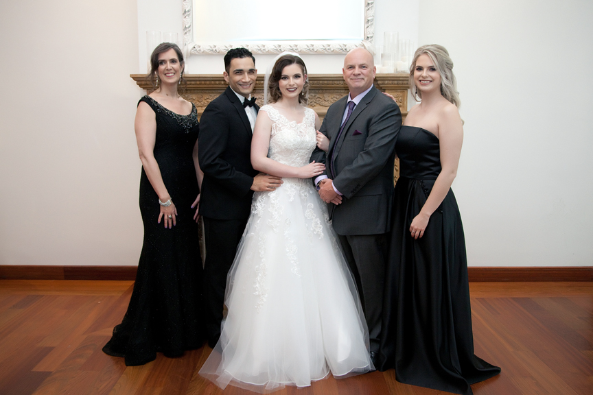 bride's family at Rosewater Room