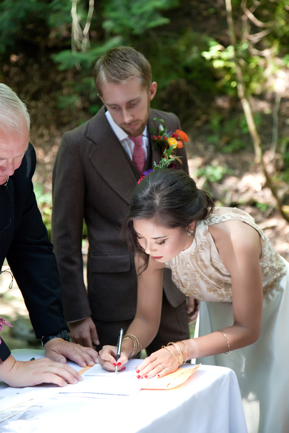 signing marriage license wedding ceremony