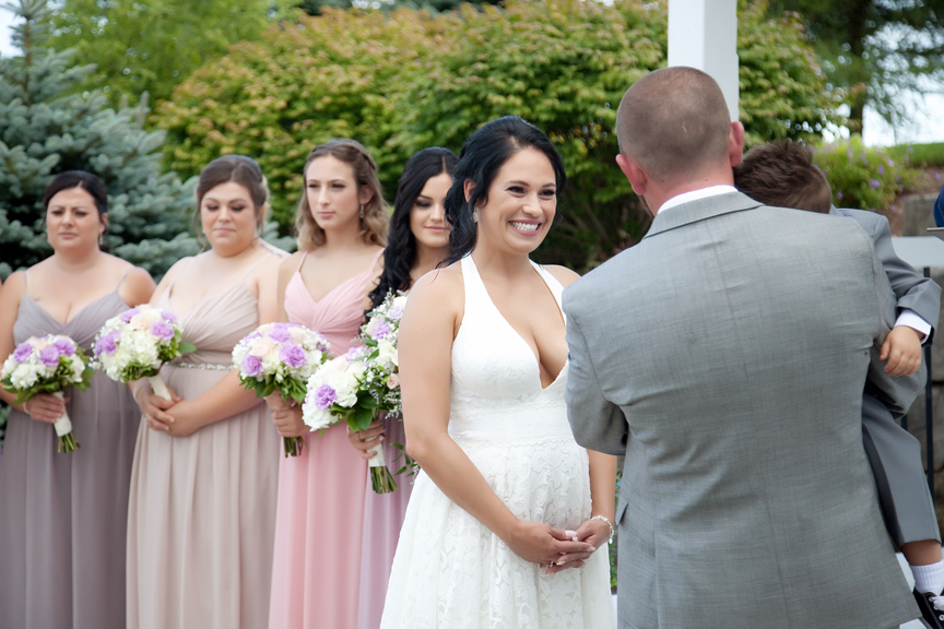 happy bride wedding ceremony at Tangle Creek Golf and Country Club