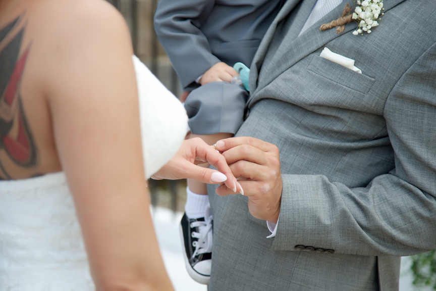 ring exchange wedding ceremony at Tangle Creek Golf and Country Club
