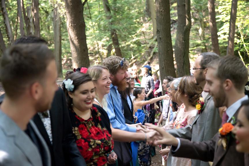 wedding ceremony receiving line