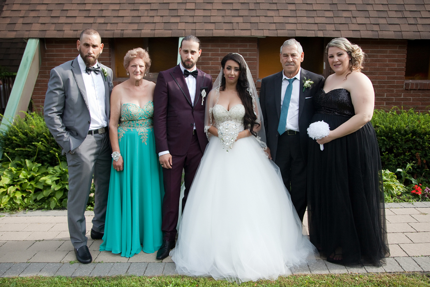 groom's family portrait at All Saints Greek Orthodox Church