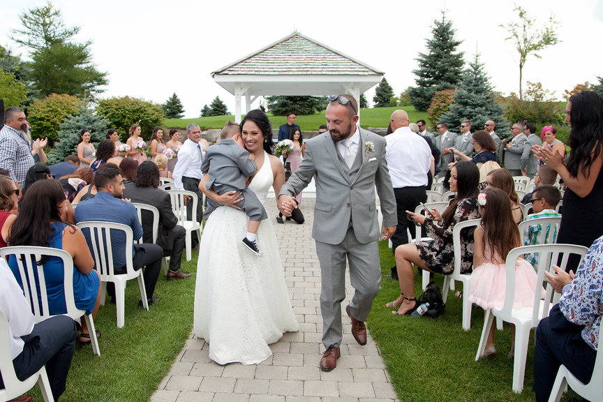 recession wedding ceremony at Tangle Creek Golf and Country Club