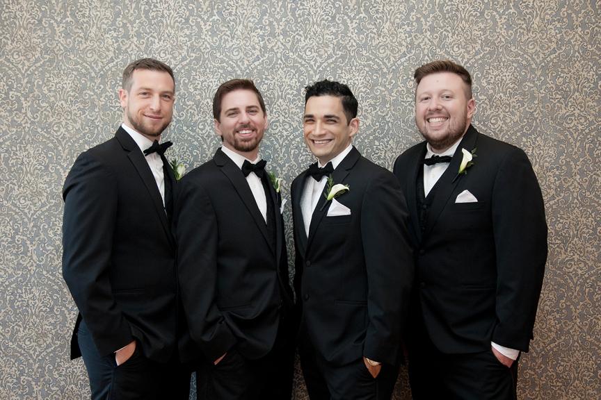 groomsmen at Rosewater Room