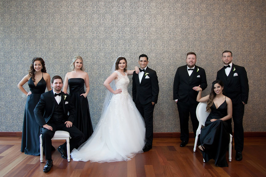 bridal party at Rosewater Room
