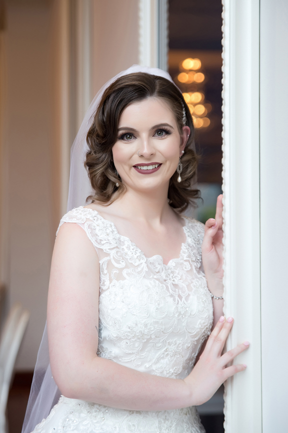 bride portrait at Rosewater Room